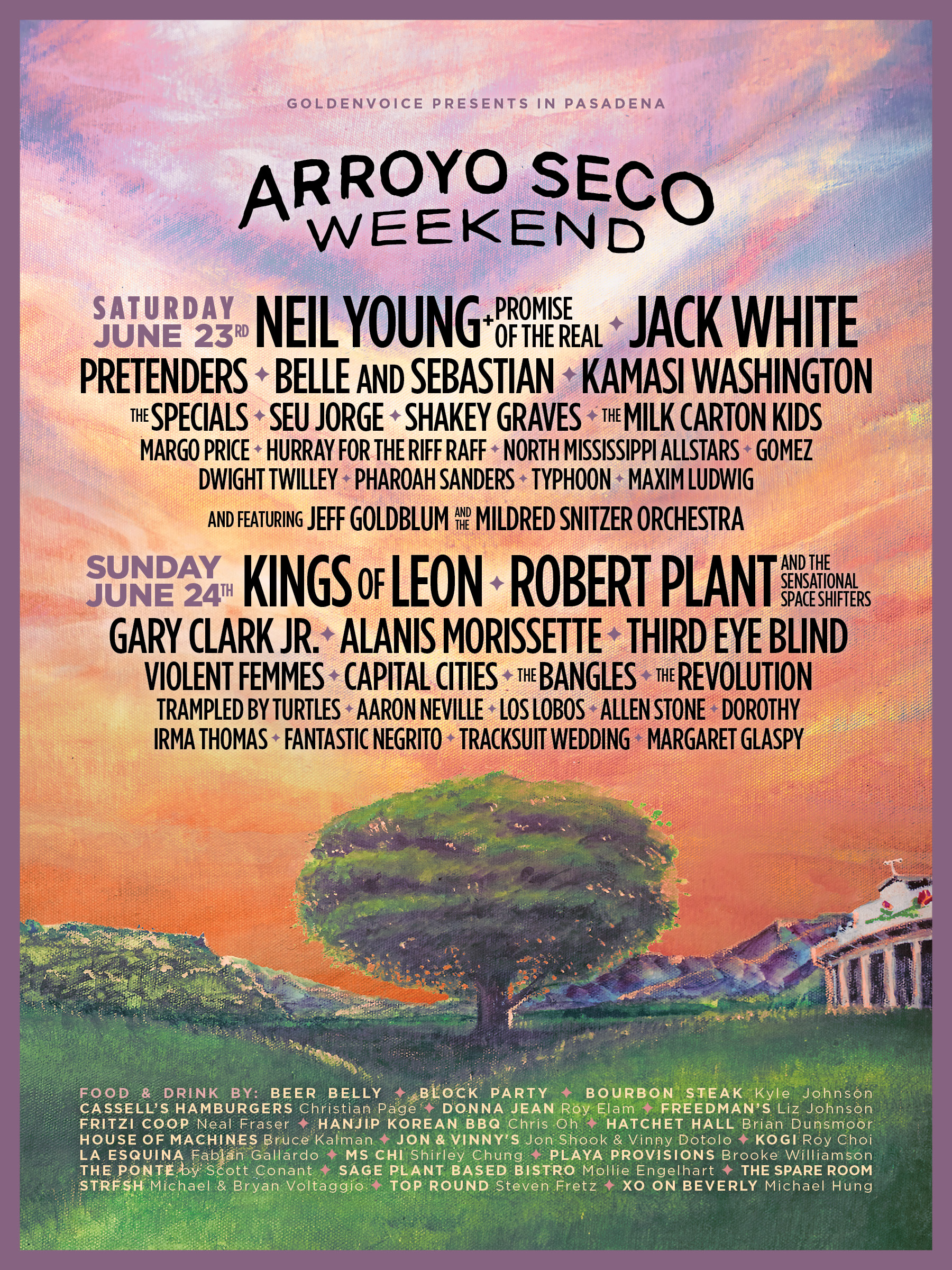 Arroyo Seco Weekend Poster 2018