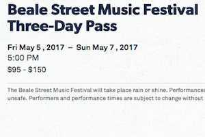 Beale Street Music Festival Tickets - All the Info