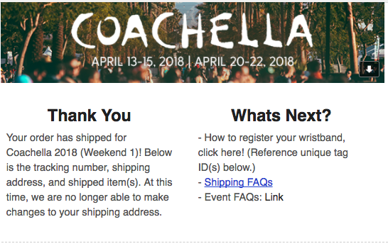 Coachella 2018 Wristbands