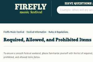 What You Can and Cannot Bring Into Firefly Music Festival