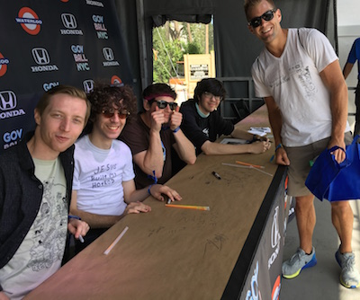Gov Ball Car Seat Headrest Autograph Signing