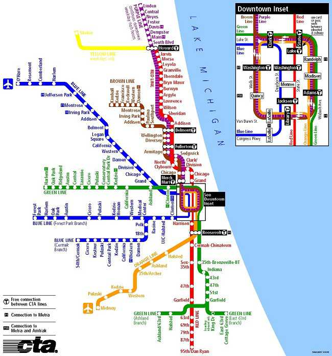 CTA Map Lollapalooza