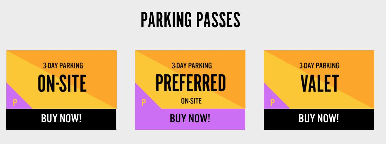 Parking at Kaaboo