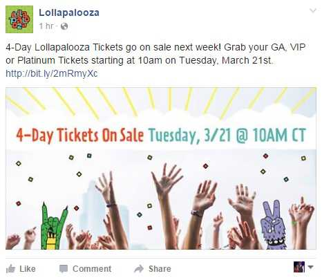 Lolla Tickets 3/21