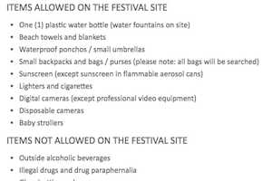 What You Can and Cannot Bring to Osheaga Music Festival