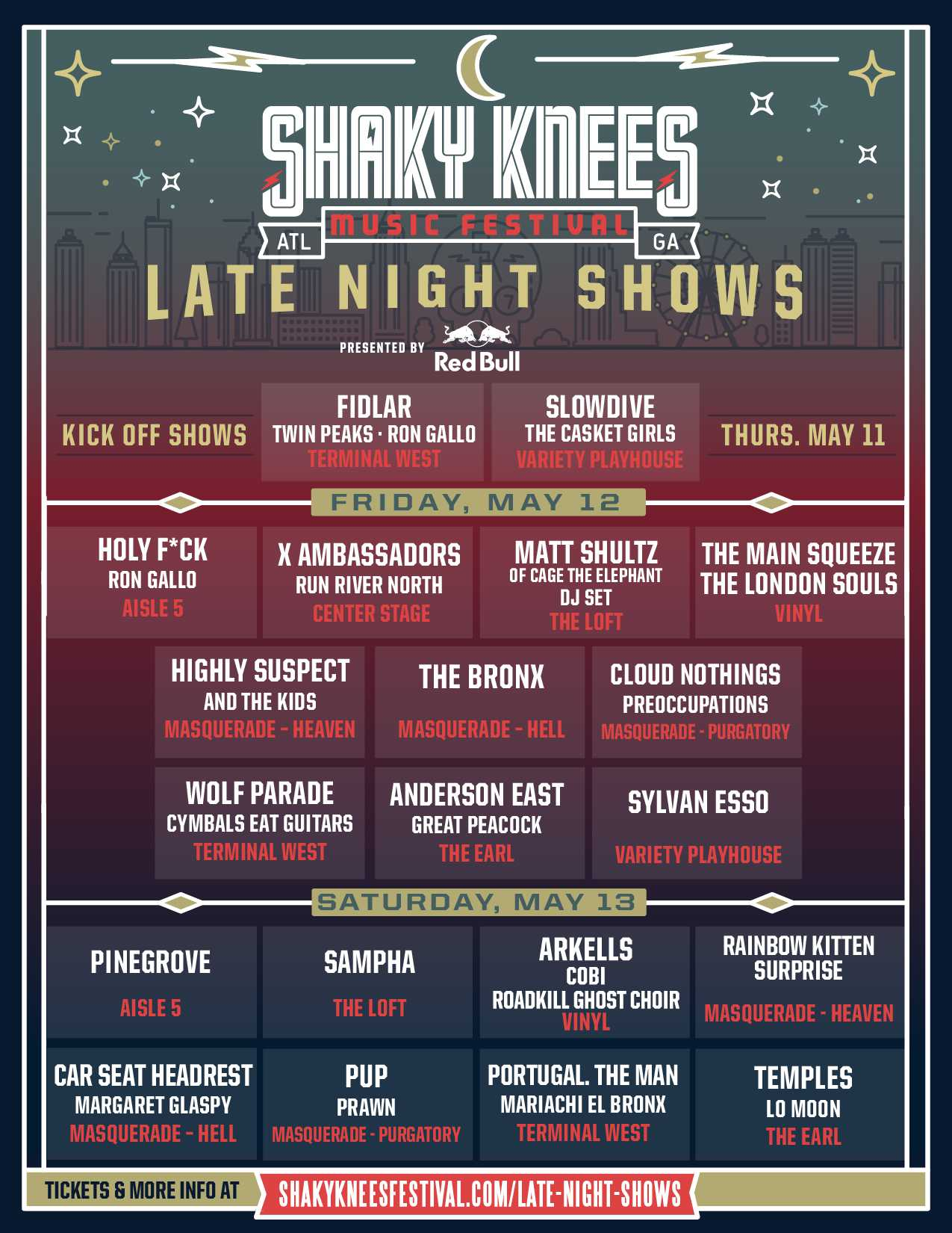 Shaky Knees Late Night